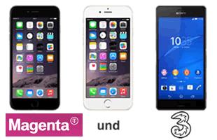 """Telefonangebote von """"Magenta"""" und """"3"""""""